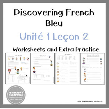 Discovering French Bleu Unit 1 Le On 2 Ma Famille Age Articles People