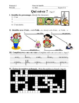 Discovering French Today Bleu Leçon 2 Supplemental activity pages – 18