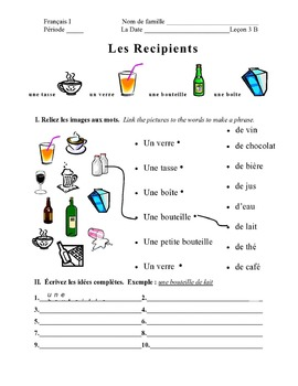 Discovering French Today Bleu Leçon 3 Supplemental activity pages – 16 pages