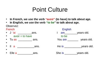 quel âge as-tu? Discovering French powerpoint Unit 1 lesson 2C