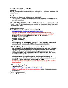 Discovering Lesson Plans  Unit 3 Lesson 8 p. 108&110
