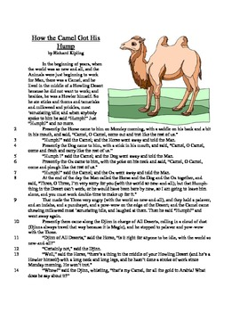 How the Camel Got His Lump - Informational Text Test Prep