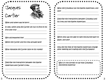 "3rd Grade Social Studies GSE ""Discovering Famous European Explorers"" booklets"