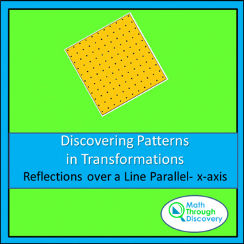 Discovering Patterns in Transformations - Reflection over Line Parallel- x-axis