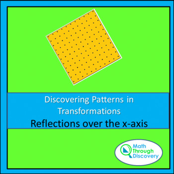 Geometry:  Discovering Patterns in Transformations - Reflections over the x-axis