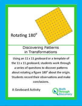 Patterns in Transformations - Rotation 180 degrees