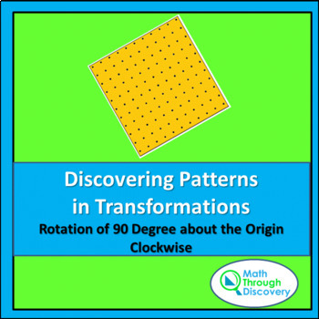 Patterns in Transformations - Rotation Clockwise 90 degrees