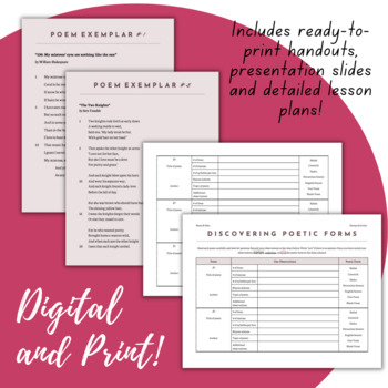 Discovering Poetic Forms - 2-Day Lesson