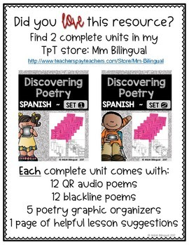 Discovering Poetry - FREEBIE {SPANISH}