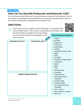 Discovering Prokaryotic and Eukaryotic Cells (NGSS MS-LS1-1)(5E Model)