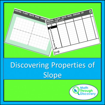 Middle School:  Discovering Properties of Slope