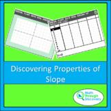 Algebra 1 - Discovering Properties of Slope