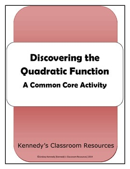 Discovering Quadratic Functions