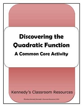 Discovering Quadratic Functions