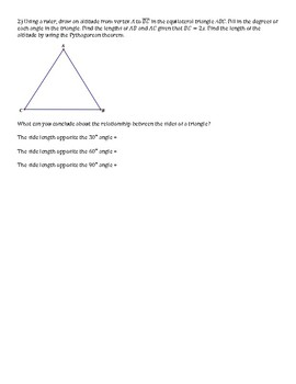 Discovering Special Right Triangles