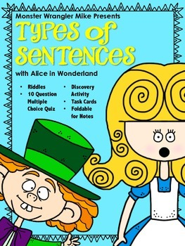 Discovering Types of Sentences with Alice in Wonderland