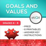 Goals, Values & Decision-Making Middle School Mini-Unit   Prezi & Printables