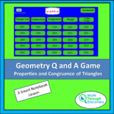 Geometry - Smartboard Q and A Game - Properties and Congru