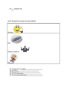 Discovering french bleu unit test or review sheet