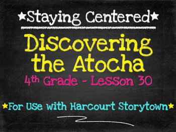 Discovering the Atocha  4th Grade Harcourt Storytown Lesson 30
