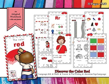 Discovering the Color Red - Workbook
