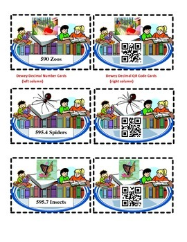 Discovering the Dewey Decimal System (590-640) with QR Cod