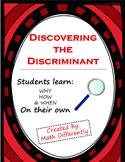 Discovering the Discriminant Exploration