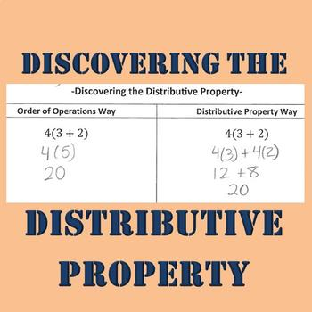 Discovering the Distributive Property