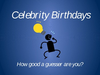 Discovering the Linear Parent Function - Celebrity Birthday Activity