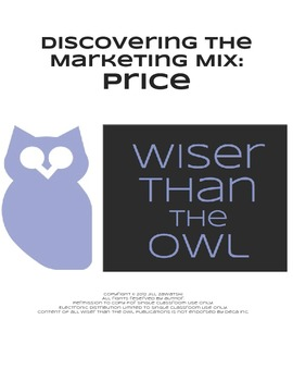 Discovering the Marketing Mix: Price