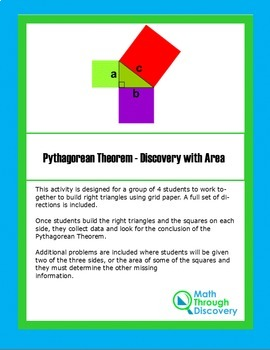 Geometry:  Pythagorean Theorem - Discovery with Area