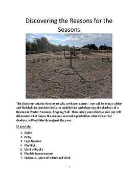 Discovering the Reasons for the Seasons