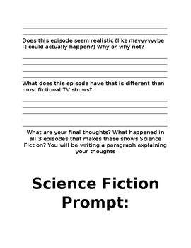 Discovering the Science Fiction Genre Pre-teach Media Activity
