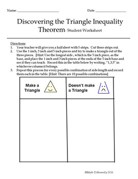 Discovering The Triangle Inequality Theorem Exploration By Math