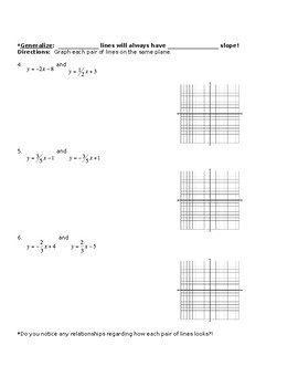 Discovery Activity for Parallel & Perpendicular Line Relationships