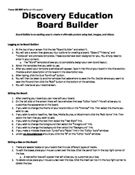 Discovery Education Board Builder Directions
