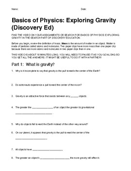 Discovery Education: Exploring Gravity (for teachers with Discovery Ed accounts)