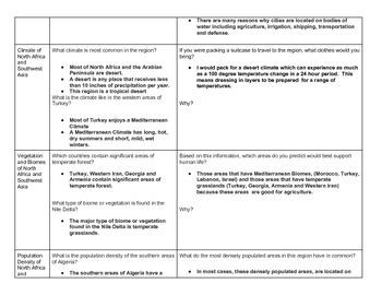Discovery Education, Grade 7 SS Techbook: Ch. 4.1 Explore Categorization Chart