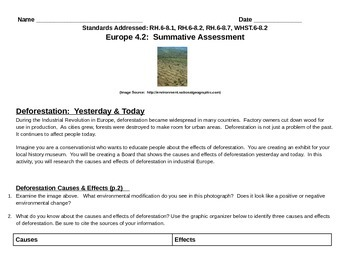 Discovery Education, Grade 7 SS Techbook: Ch. 4.2 Deforestation Summative