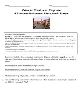 Discovery Education, Grade 7 SS Techbook: Ch. 4.2 Extended Constr Resp