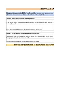 Discovery Education, Grade 7 SS Techbook: Ch. 4.3 Graphic Orgs (Europe)