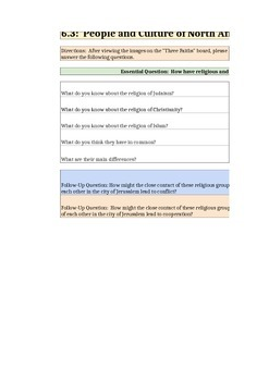 Discovery Education, Grade 7 SS Techbook: Ch. 6.3 Graphic Orgs (MidEast)