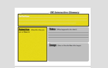 Discovery Education Interactive Glossary - Guided Vocabulary Worksheet