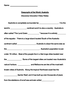Discovery Education Notes for Australia