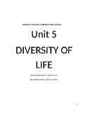 Discovery Education Techbook 6th Gr. Unit 5 Diversity of Life Student Guide