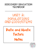 Discovery Education Techbook - Biotic and Abiotic Factors Notes