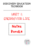 Discovery Education Techbook - Energy for Life Notes Bundle