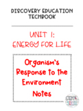 Discovery Education Techbook - Organism's Response to the Environment Notes