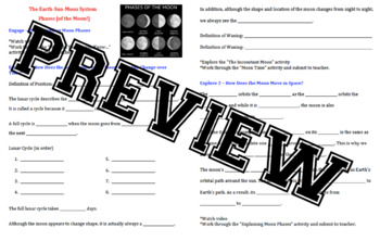 Discovery Education Techbook - Phases of the Moon Notes