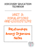 Discovery Education Techbook - Relationships Among Organisms Notes